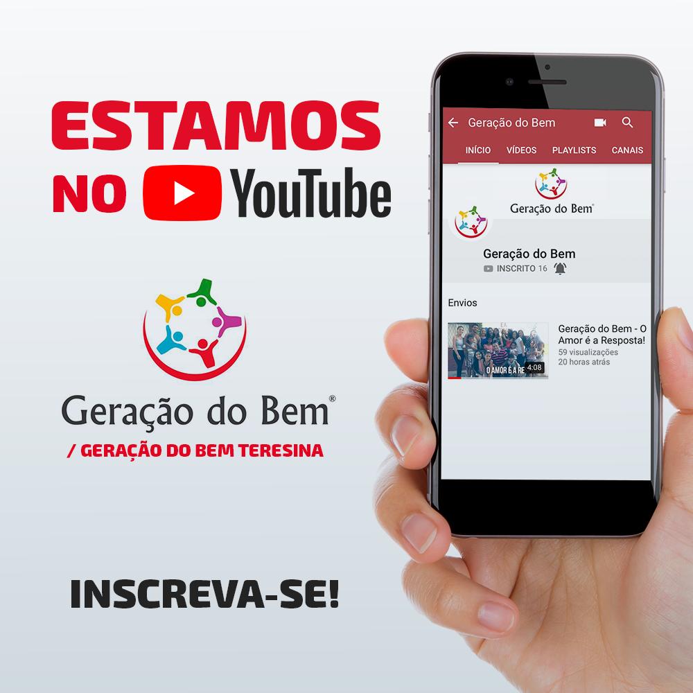 Estamos agora no Youtube! Inscreva-se em nosso canal - Geração do ... ad4b701410df2