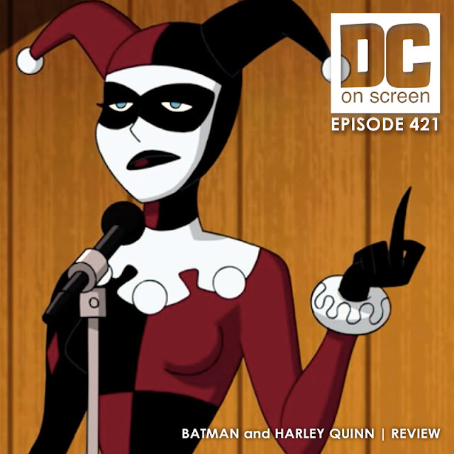 Harley flips the audience off in Batman and Harley Quinn