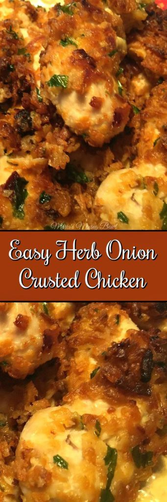 Easy Herb Onion Crusted Chicken