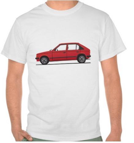 Opel Kadett D t-shirts Vauxhall Astra Mk1 red