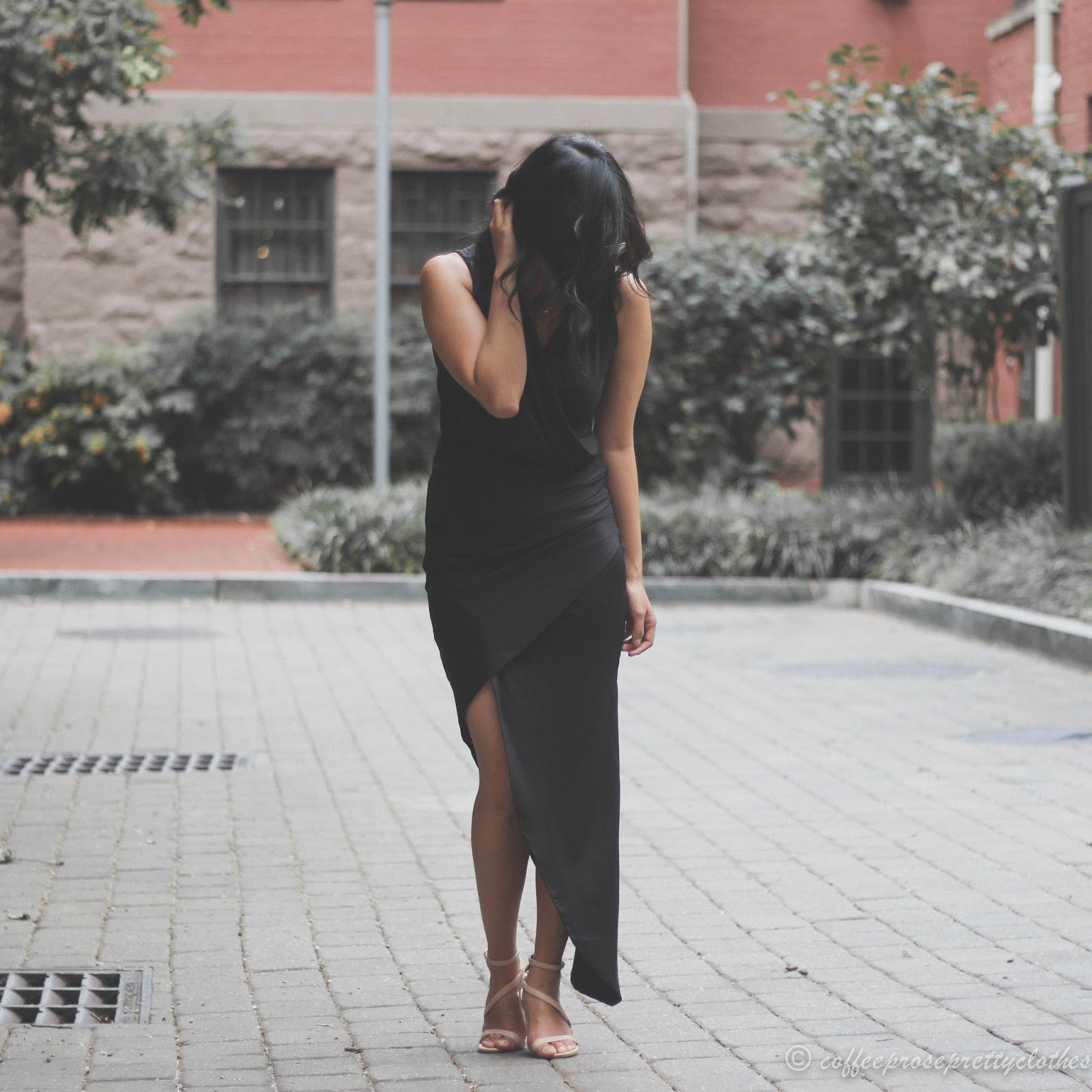 Black Maxi and Minimalist Heels