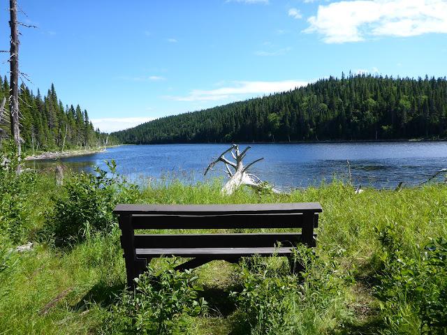 sentier des lacs parc de Forillon Québec