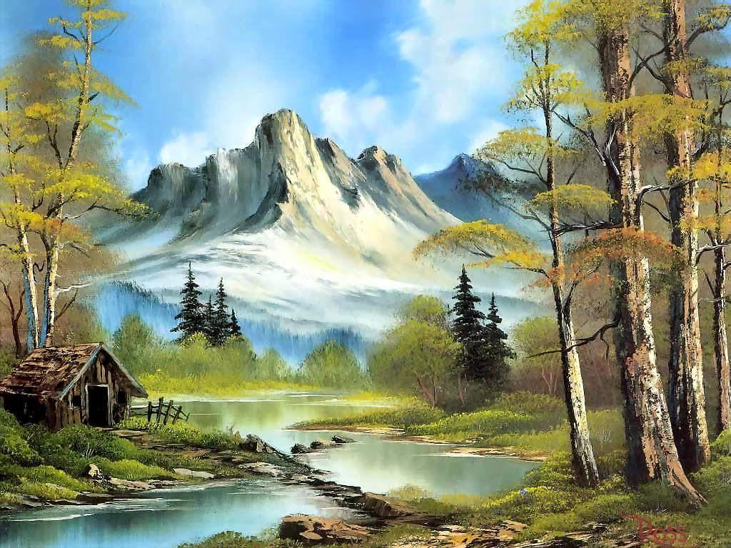 410+ Lukisan Pemandangan Senja Yang Mudah Ditiru HD Terbaik