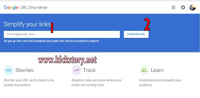 Cara Pendekkan URL Menggunakan Goo.gl