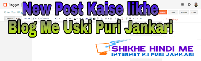 Blogger Blog Me New Post Kaise likhe Iski Puri Jankari Sikhe Hindi Me by Hum Sikhe