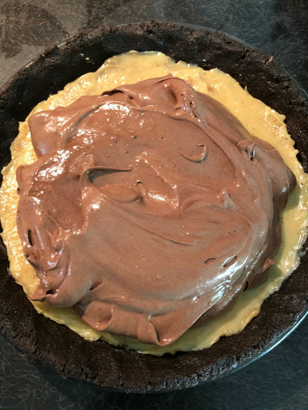 Chocolate Mousse Caramel Pie: One of the easiest, most impressive desserts ever with only FOUR ingredients and three layers of decadent lusciousness | Ioanna's Notebook
