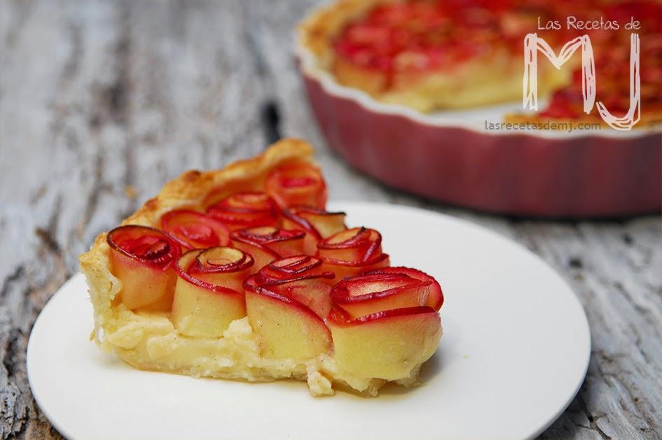 Tarta De Manzana Con Crema Pastelera Videoreceta Las Recetas De Mj
