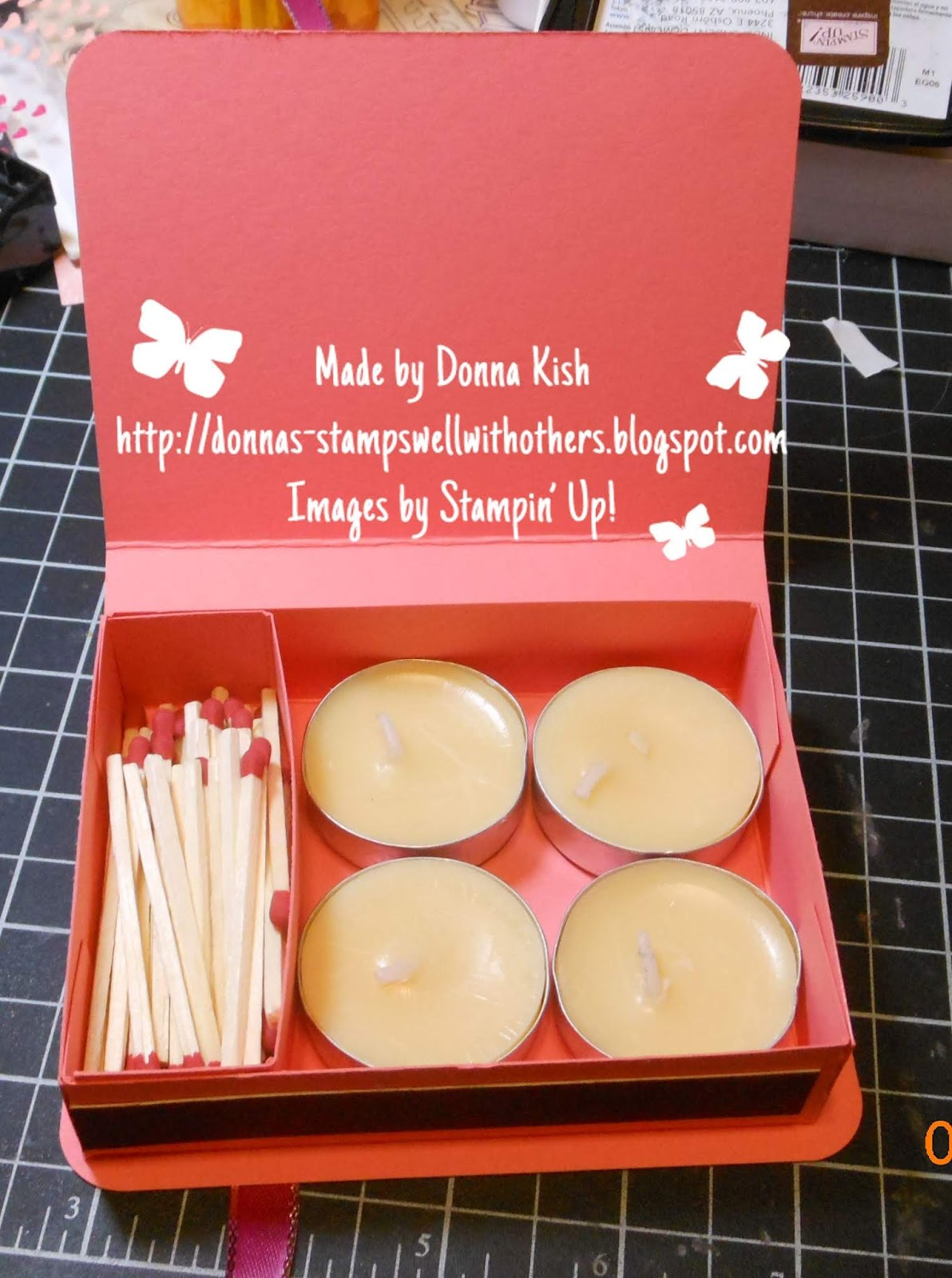 Stamps Well With Others: Candles and Match Holder