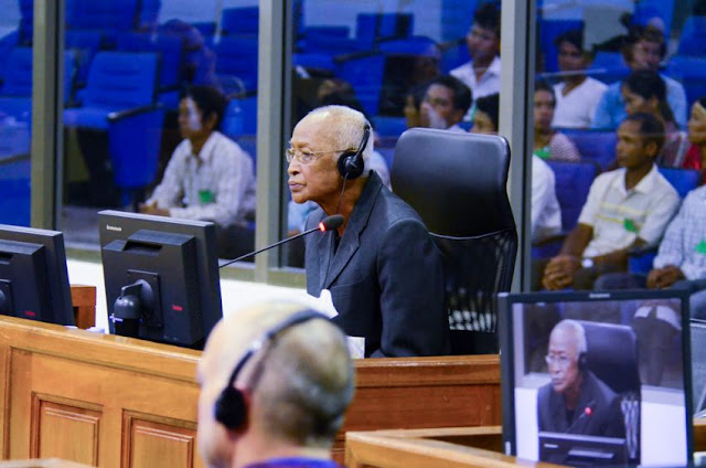 Civil party Sou Sotheavy testifies before the Extraordinary Chambers in the Courts of Cambodia earlier this week during case 002/02. ECCC