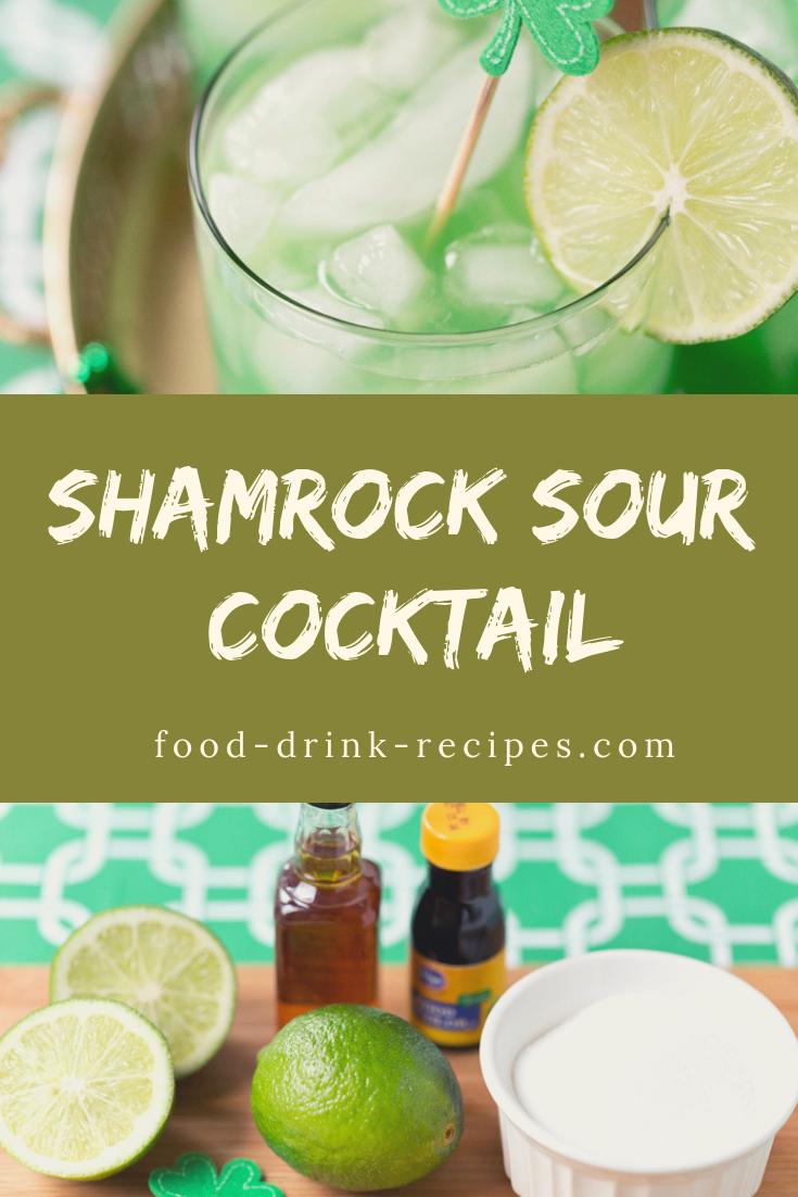 Shamrock Sour Cocktail - food-drink-recipes.com