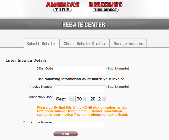 Https Dt Rebatepromotions Com Submit Your Discount Tire Rebate Online