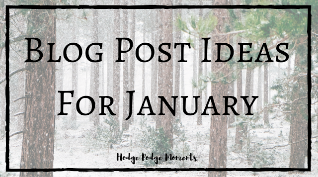 Blog Post Ideas for January