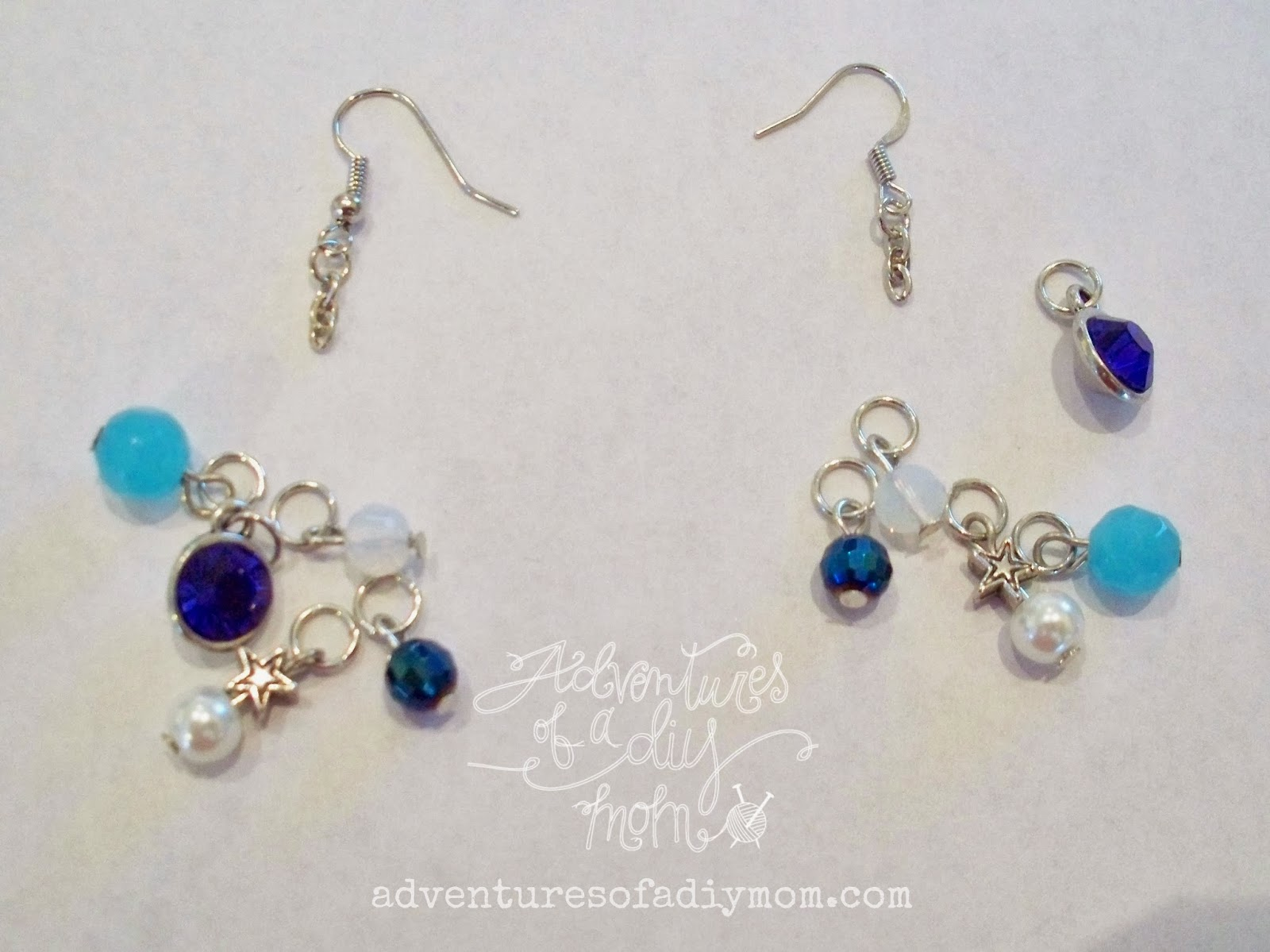How to Make Blue Sparkle Earrings and Bracelet ...