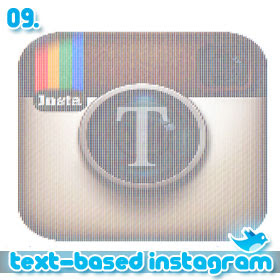 10 People You Have To Follow On Twitter: 09. Text-Based Instagram