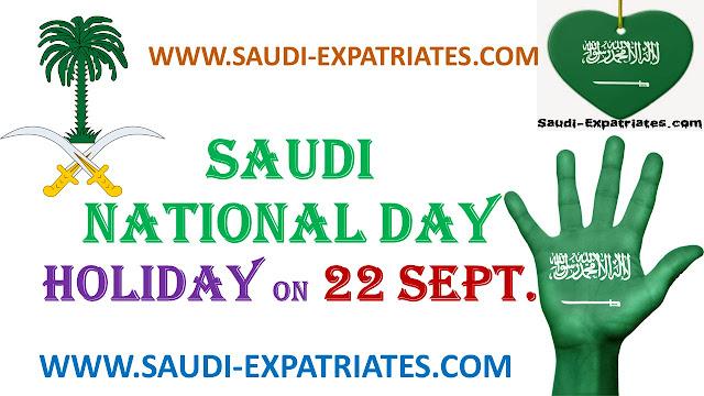 Saudi National Day Holiday on 22 September