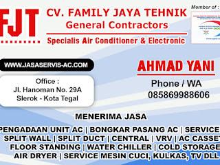 Jasa Tukang Service AC Tegal, Cuci AC Slawi, Pemalang dan Brebes Kabupaten Brebes Jawa Tengah