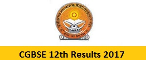 CGBSE 12th Results 2017