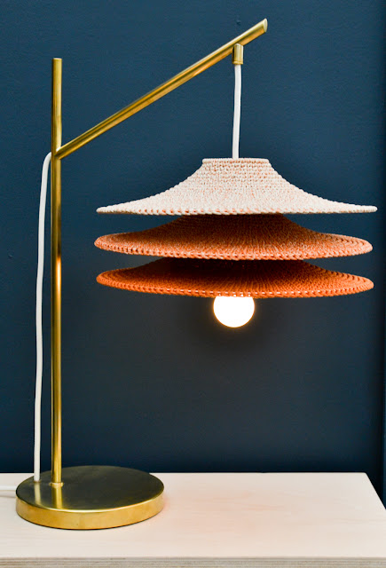 Naomi Paul crocheted lighting at Decorex during London Design Festival 2016 #LDF16