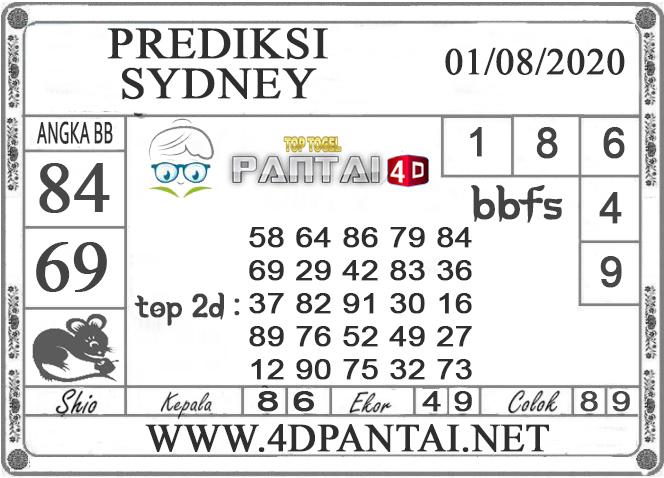 PREDIKSI TOGEL SYDNEY PANTAI4D 01 AGUSTUS 2020