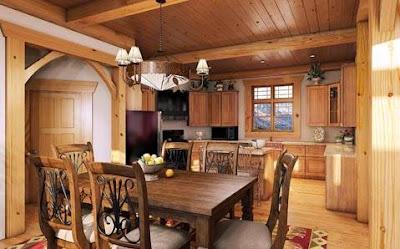 Contoh Gambar Desain Interior Rumah Kayu Modern Terbaik