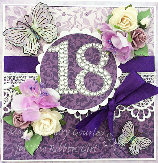 Playing With Ribbon 18th birthday card – 18th Birthday Cards for Girls