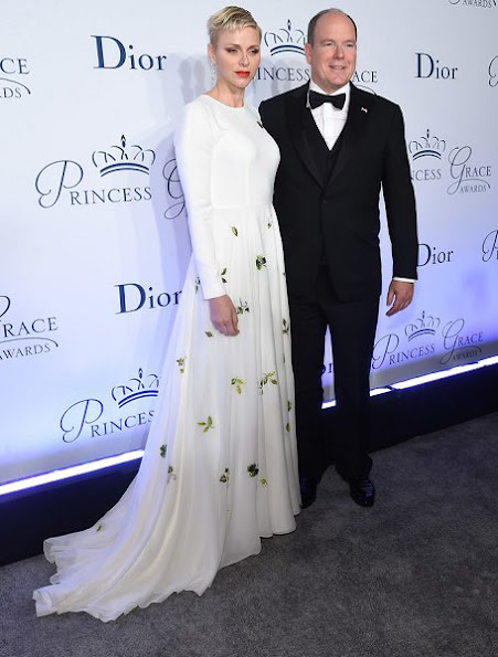 Princess Charlene of Monaco attended the 2016 Princess Grace awards gala at Cipriani 25 Broadway on October 24, 2016 in New York City