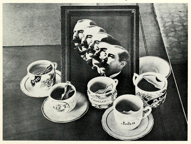Ringling Brothers and their personalised moustache cups photograph via Flickr