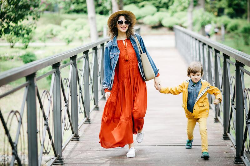 стиль молодой мамы и ребенка