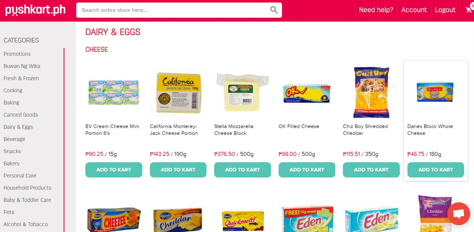 Grocery online shopping philippines