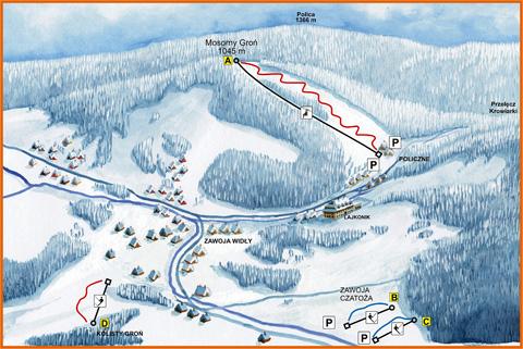 wyciąg narciarski mosorny groń