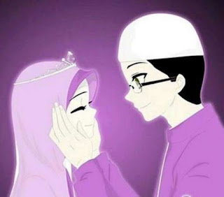 kartun islami pasangan suami istri