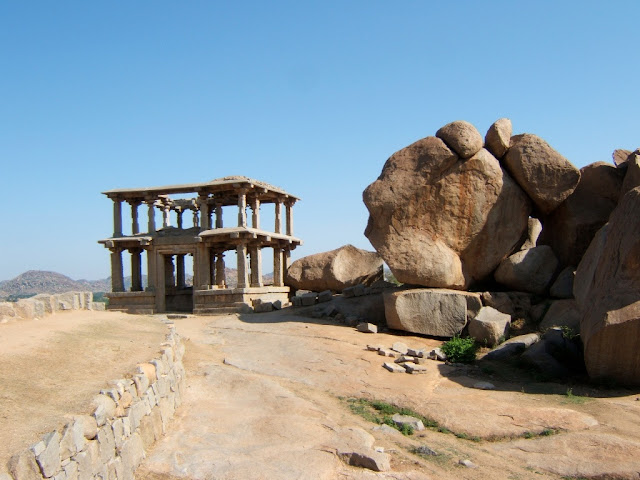 Hampi itinerary - two storied stone gateway