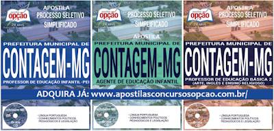 Apostila Processo Seletivo Prefeitura de Contagem MG 2017