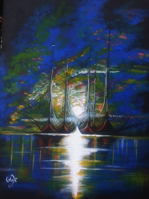 obraz malowany akrylami