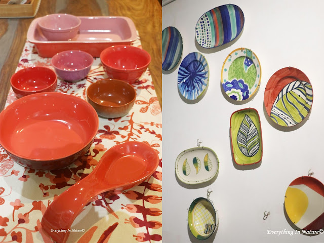 ceramic plate decor - everything in nature