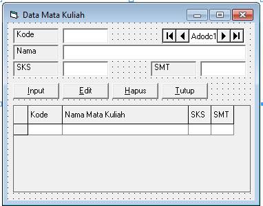 Source Coding Program Pengolahan Data Nilai Lengkap Di Visual Basic 6.0