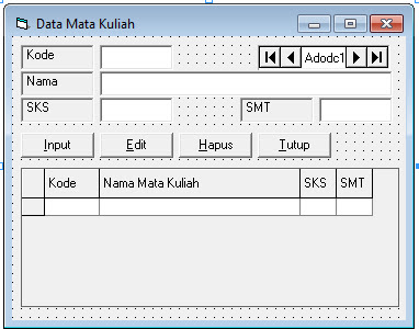 Source Coding Program Pengolahan Data Nilai Lengkap Di Visual Basic 6.0
