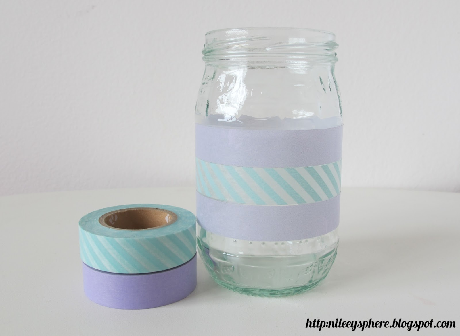 DIY Washi Tape and Mason Jar Vase ~ Nileey's Sphere
