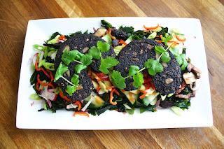 Black Pudding & Seaweed Salad