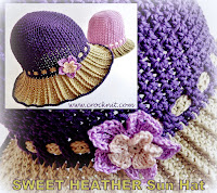 how to crochet, crochet patterns, hats, sun hats, hats with brims,
