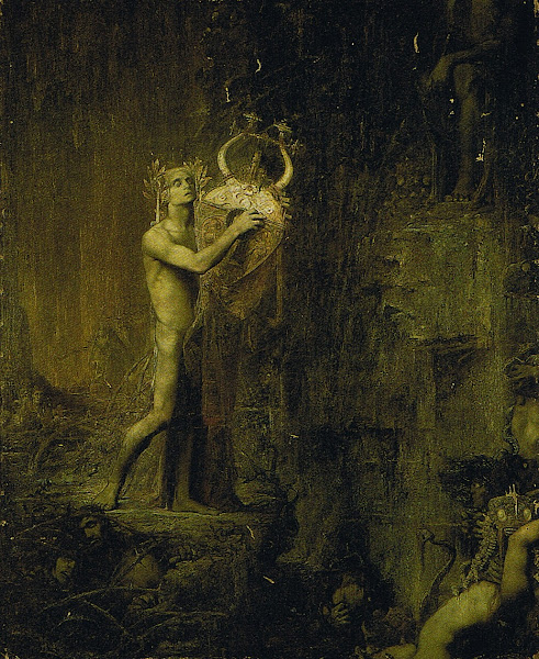 Orpheus in Hades by Pierre Amédée Marcel-Béronneau, Classical mythology, Greek mythology, Roman mythology, mythological Art Paintings, Myths and Legends