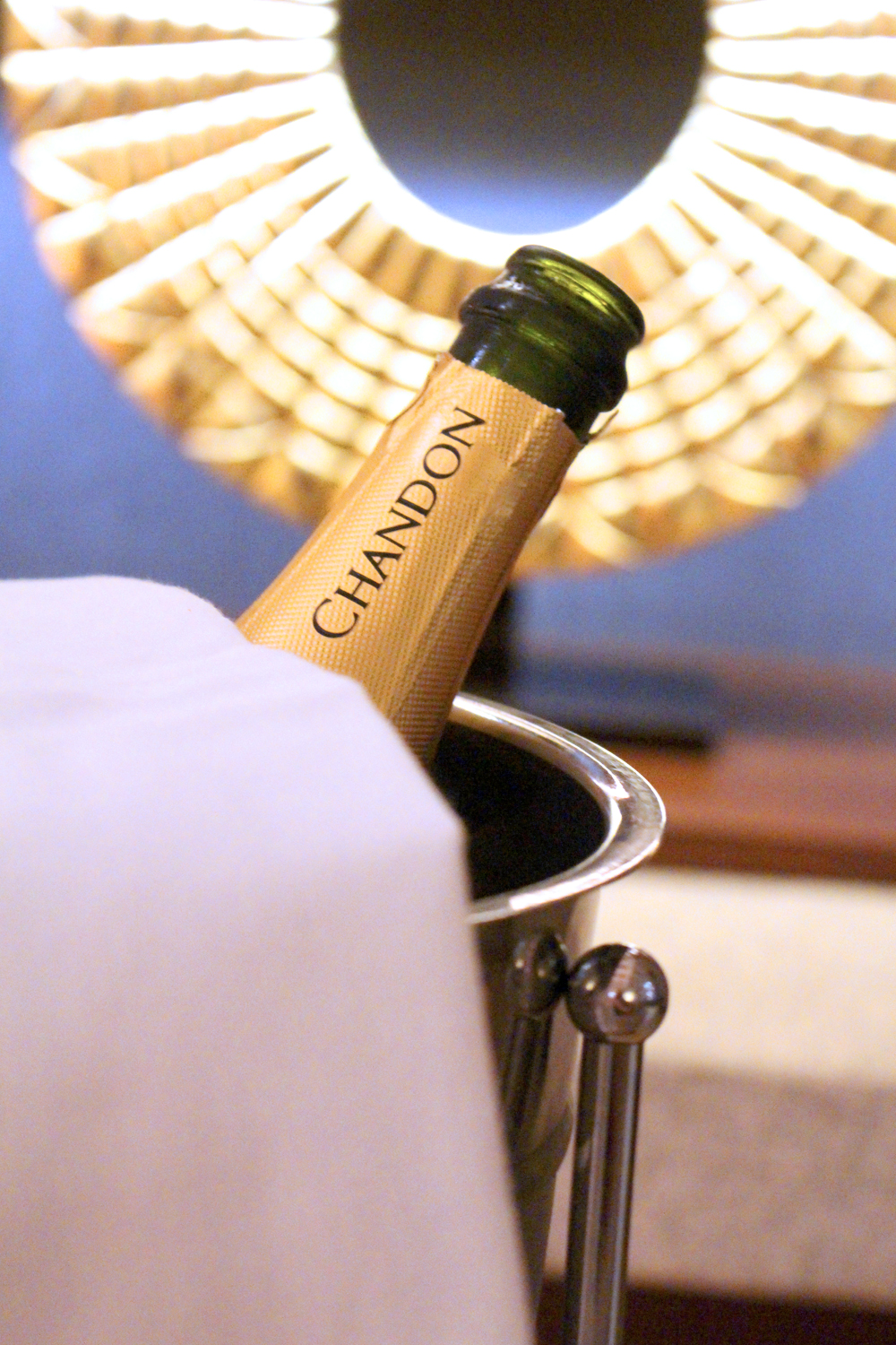 Chandon sparkling wine at Sumaq, Aguas Calientes, Peru - lifestyle & travel blog