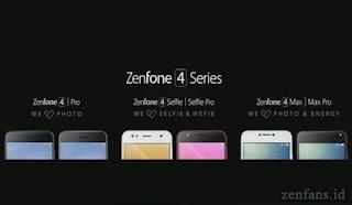 ASUS Zenfone 4 direlease dengan varian Pro, Selfie dan Max