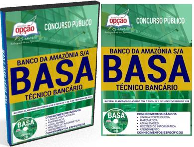 apostila Cconcurso BASA Banco da Amazônia S.A 2018