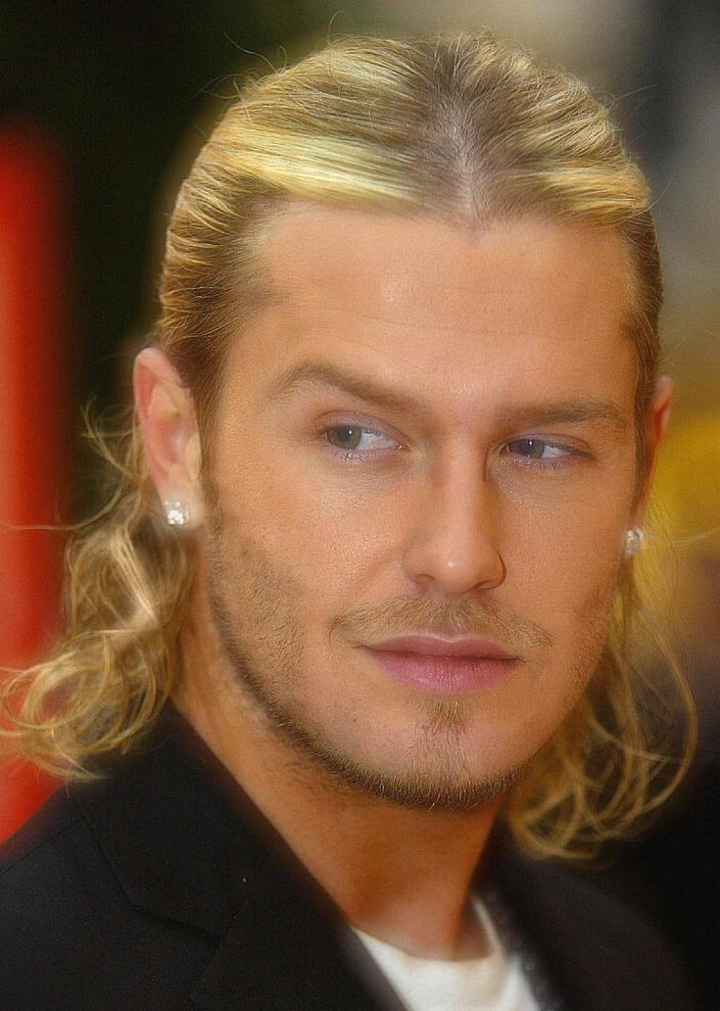 windy hairstyle: david beckham long length hairstyle ideas