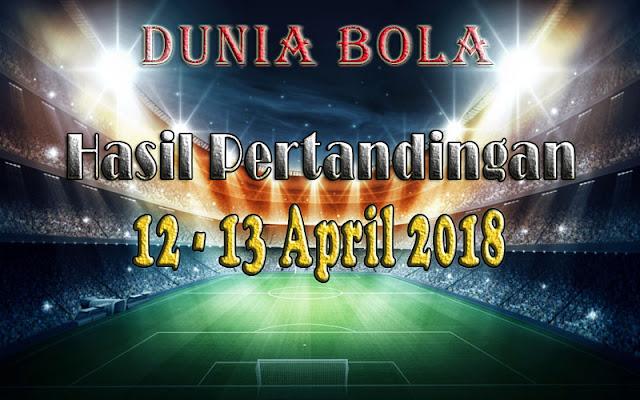 Hasil Pertandingan Sepak Bola Tanggal 12 - 13 April 2018