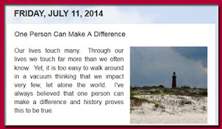 http://mindbodythoughts.blogspot.com/2014/07/one-person-can-make-difference.html