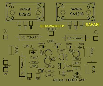 power amplifier 400 watt safari Original Layout PCB