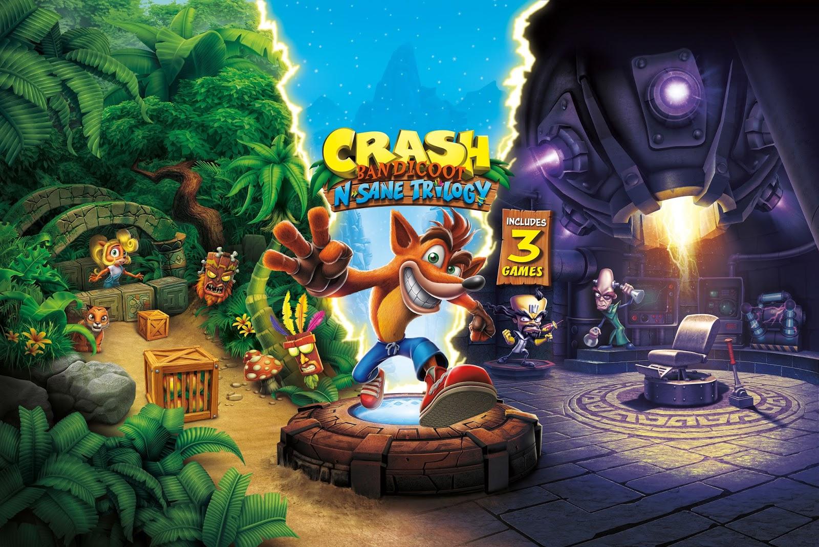 Lançamento da trilogia remasterizada de Crash Bandicoot é antecipado