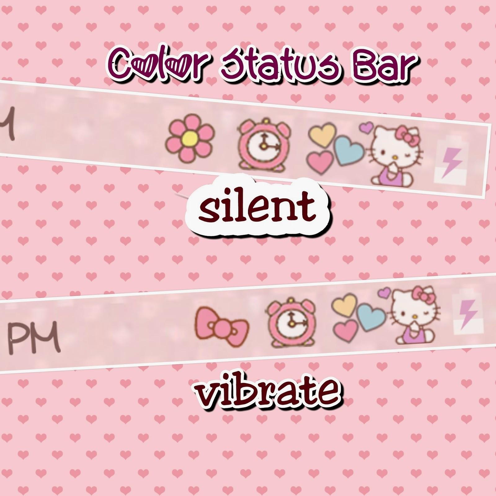 LOve Pink~: Hellokitty kawaii Color Status bar app
